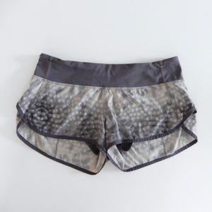 Lululemon Limited Edition Snowy Owl Speed Shorts